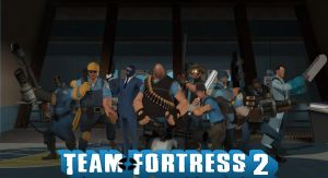 BLU Team Complete TF2 Poster by Rachidna