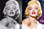 Marilyn Monroe black and white photo Colorize by l0vehcl
