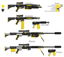 Fool's Gold (RWBY style gun) by Blaze-Drag