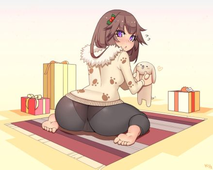 Christmas Puppy by Kuroonehalf