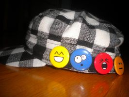 Emoticon Buttons by SharpieObsessed