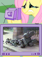 Fluttercry: Johnny 5 After Getting Smashed Up by ChipmunkRaccoon2