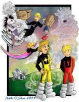 My1st Power Pack Fanart Color by DragonPress