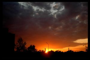 sunset from my window by kovalart
