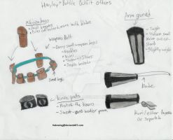 Hayley's Battle outfit: Bags and protection. by Halowing