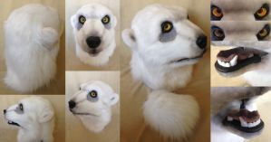 *SOLD Semi-realistic Polar bear head by ElementalFurs
