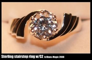 Elegant stair-step ring by Dans-Magic