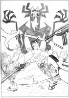 Samurai Jack pencil by bushiboy