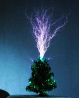High Voltage Christmas Tree by teslaextreme