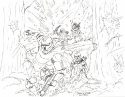 Clone Wars Forest Battle by Tribble-Industries