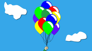 Fly away pretty balloons by PeturPetur