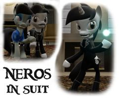 Neros in suit by Neros1990