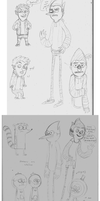 regular show humans+other crap by PepperFox23