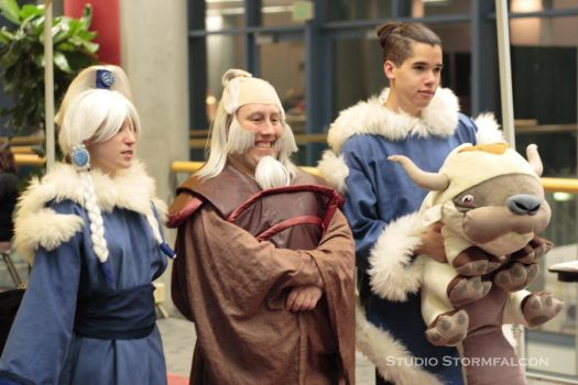 Princess Yue, Uncle Iroh and Sokka by Stormfalcon