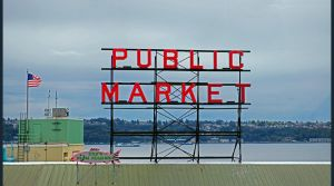 Pike place sign by Mackingster