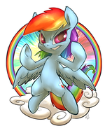 Rainbow Dash Badge by atryl