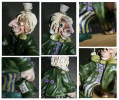 Mad Hatter sculpture 3 details by Reverie09