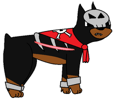 Nightfang the Houndour by TheDarkDuskWolf