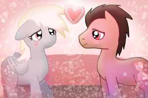Derpy and Dr Whooves in love by telimbo