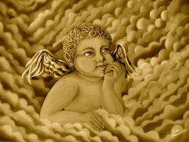 Baby Angel Sepia by Giappi76