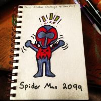 Spider Man 2099 (Sketch Challenge) by AbbyCatWolff