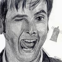 cheeky Tennant by nevermindthename
