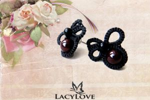 Tatted earrings TUMAN by LacyLoveHandmade