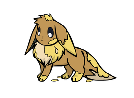 Eevee covered in Paint by sunnyfish