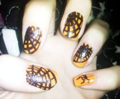 Spider Web Nails by Chelseapoops