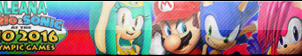 Mario-Sonic-Aleana-and Sonia button by ALEANADX-2