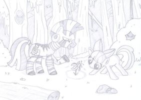 Apple Bloom and Zecora (Request) by Super-Josh