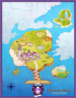 PKMNA :: Faraway Island and Surrounding Isles Map by CherryBuns