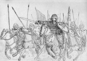 Marinids charging in, Battle of Ecija, 1275 AD by FritzVicari