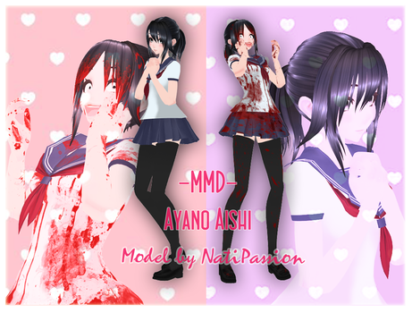 -MMD model Download- Ayano Aishi by Natipassion