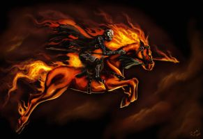 FireHorse rider by KiloWhat