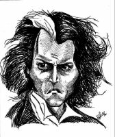 Sweeney Todd caricatura by lufreesz