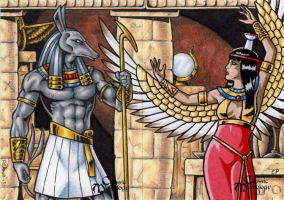 Set + Nephthys - Classic Mythology by tonyperna