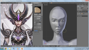 W.I.P. Sculpt Syndra by amyrose7