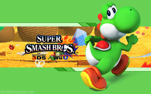 Yoshi Wallpaper - Super Smash Bros. Wii U/3DS by AlexTHF