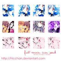 Full Moon icon pack by Hicchan