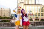 Sailor V and M by MeganCoffey