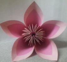Pink/Hot Pink Kusudama Flower by TheOrigamiArchitect