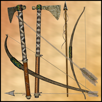 Native American weapons by Stock-by-Dana