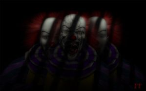 The many faces of a clown by Enigmator