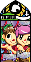 Smash Bros - Villager 1 to 4 by Quas-quas