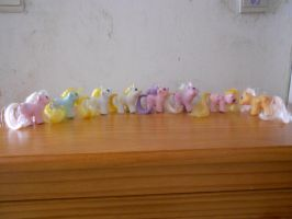 my little pony collection: new born twins 1 by theladyinred002
