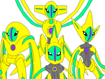 Shiny Deoxys And It's Formes by Kabutopsthebadd