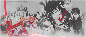 Blue Exorcist Banners by saredGfx