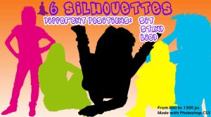 6 Silhouette Brushes by sara1elo