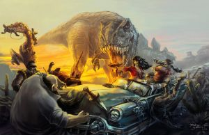 Cadillacs and Dinosaurs by Brolken
